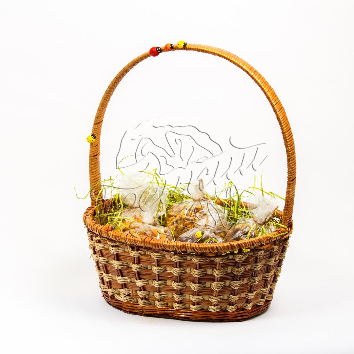 Корзина с сухофруктами и орехами в подарок 4