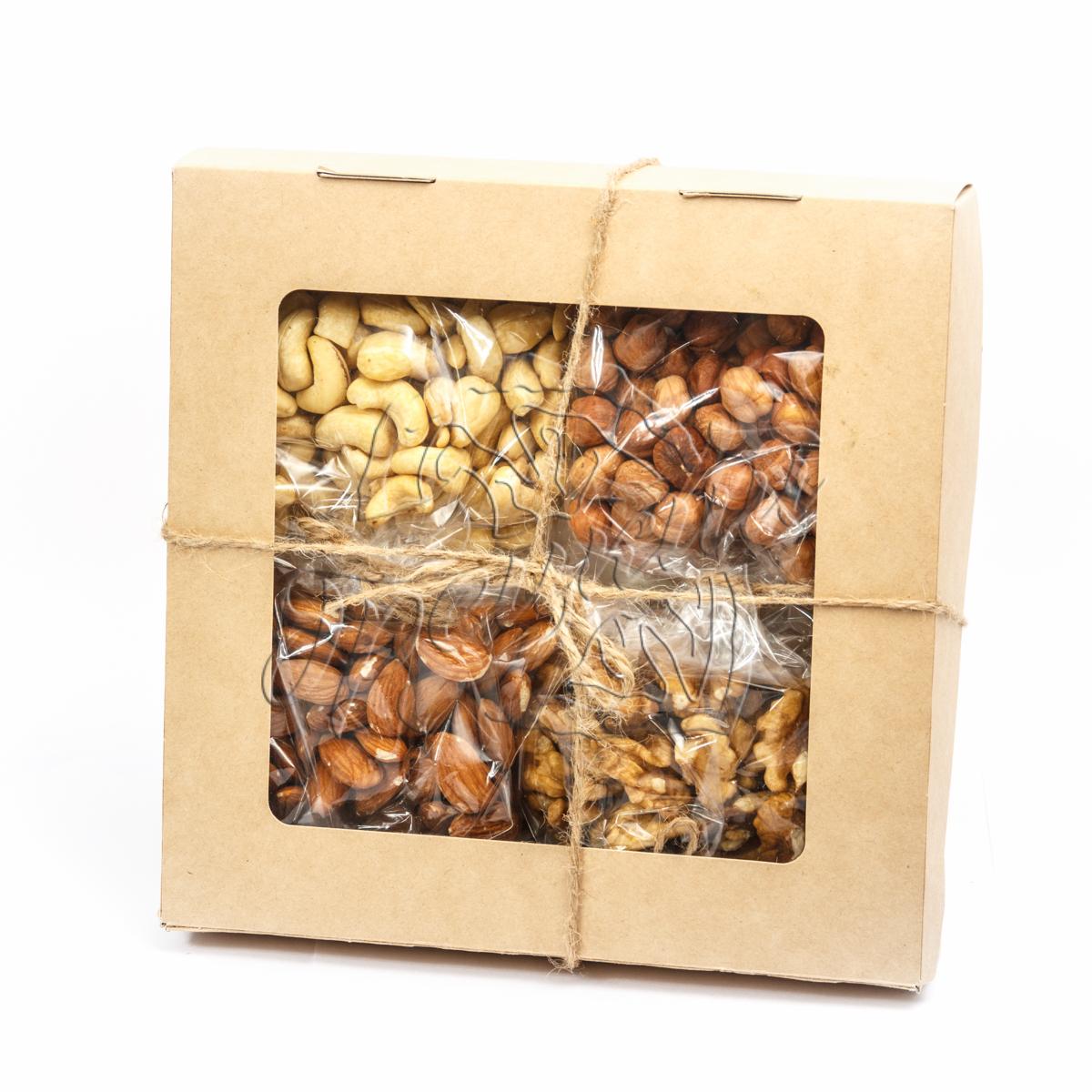Подарки из орехов, сухофруктов, сладостей в красивой