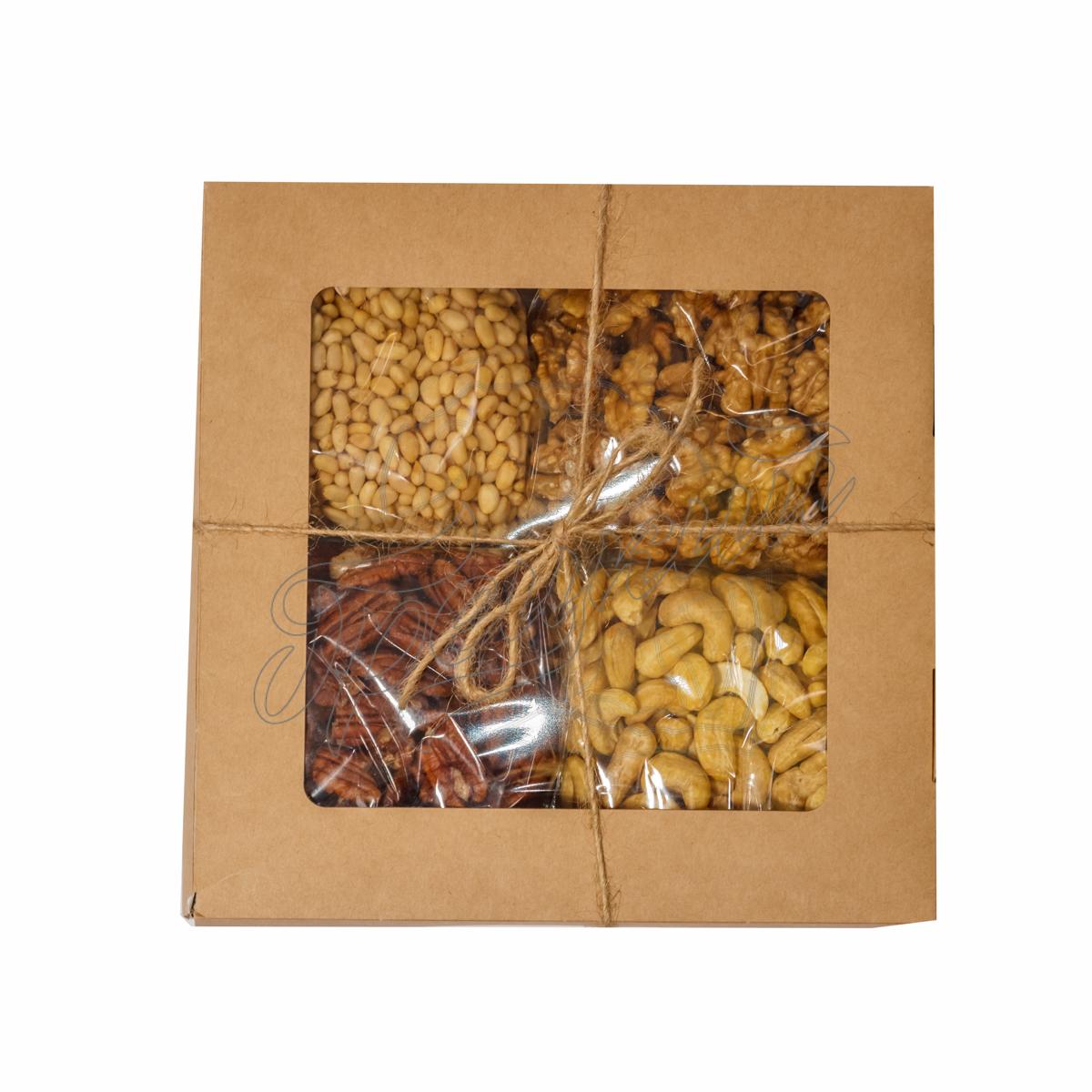 Подарки из орехов, сухофруктов, сладостей в красивой 59