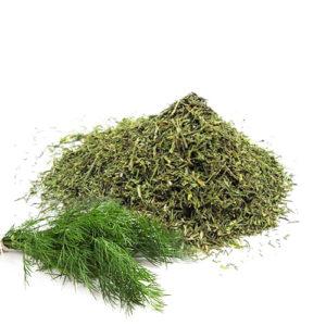 Укроп зелёный, сушеный
