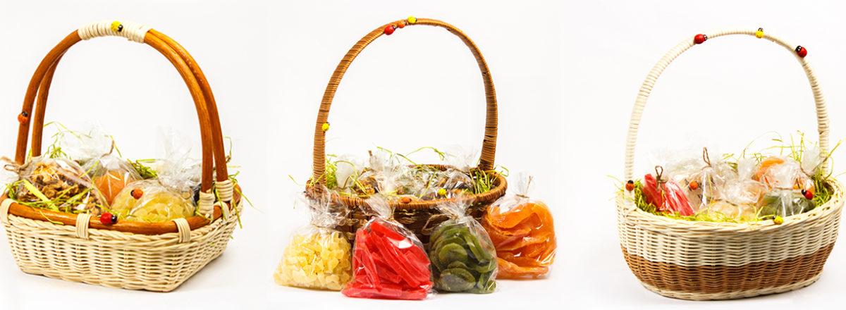 Корзина с орехами и сухофруктами в подарок