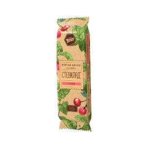Молочный шоколад «Стевилад»  с вишней