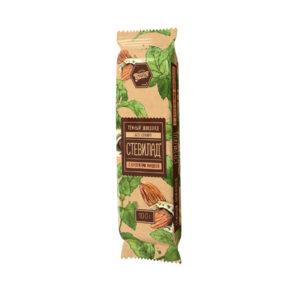 Тёмный шоколад «Стевилад» с миндалём