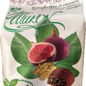 Конфеты без сахара «инжир с грецким орехом в шоколаде»