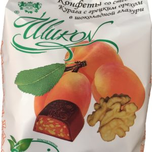 Конфеты без сахара «курага с грецким орехом в шоколаде»