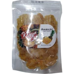 Ананас сушеный без сахара Кинг, 500 гр.