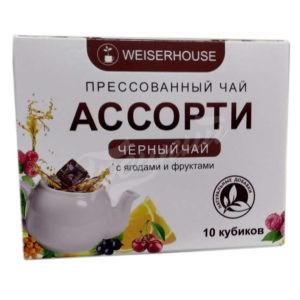 Пресованный черный чай в кубиках, ягодное ассорти